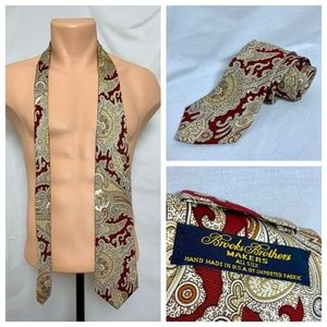 VTG Brooks Brothers Makers Red Paisley Necktie